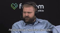 robert kirkman nycc new york comic con skybound hypeman im just being a hypeman right now #humor #hilarious #funny #lol #rofl #lmao #memes #cute