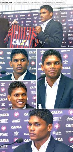 Timidez e sorrisos: Romeo Fernandes é apresentado no Atlético-PR +http://brml.co/1N988GS