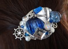 Nautical Hair Barrette by wynbrit on Etsy, $36.00. Too freakin awesome! Steampunk?