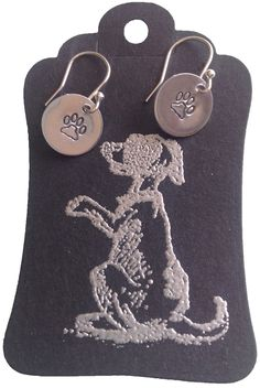 Paw Aluminium & Sterling Silver Earrings