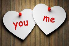 Miłosne, Walentynki, Papierowe, Serca, Deski, Napisy, You, Me