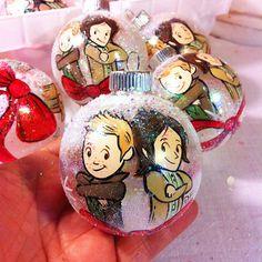 Handpainted Supernatural ornaments