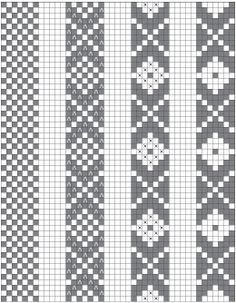 """Design basics for """"Baltic"""" or """"speckled"""" pick-up patterns. I highly recommend this article! #inkleweaving #inkle #pickup"""