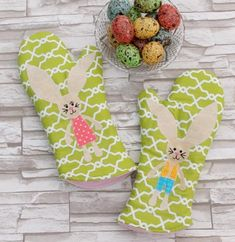 Bunny pečivo Mitts Crafts