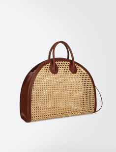 Straw bag, tobacco - Weekend Max Mara Product page Leather Pouch, Leather Purses, My Bags, Purses And Bags, Ethnic Bag, Best Handbags, Basket Bag, Vintage Bags, Knitted Bags