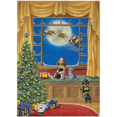 Michigan Wolverines Holiday Cards - The Danbury Mint