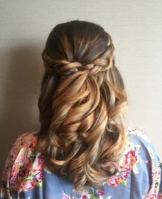 These Prettiest Braided crowns Half up half down hairstyle to inspire you big day look. wedding hair half up half down + loose curls, Half up half down