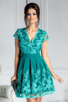 Short Sleeve Dresses, Dresses With Sleeves, Costumes, Popular, Casual, Fashion, You Are Special, Gala Dresses, Green