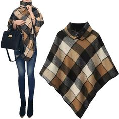 Sewing - Make Your Own Clothes Fashion Sewing, Diy Fashion, Winter Fashion, Fashion Outfits, Poncho Outfit, Poncho Shawl, Diy Clothing, Sewing Clothes, Winter Outfits