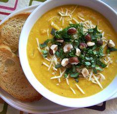 Spiced Butternut Squash Soup   SunnyByrd
