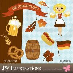 Oktoberfest Cute Digital Clipart - Commercial Use OK - Octoberfest ...