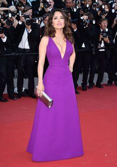 Pin for Later: Seht die Stars in ihren schönsten Roben beim Filmfest in Cannes Salma Hayek in Gucci