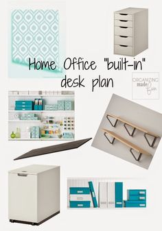 This Year's Organizing Goals include my home office and a new built in desk ::OrganizingMadeFun.com