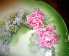 Vintage Victorian HR Bavaria  Roses Floral by LionheartGalleries
