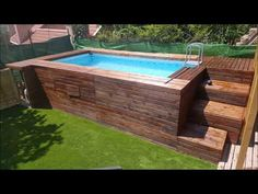 Piscina panelada de madera - YouTube