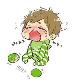Upset baby Makoto ... From tanakanatan0222 ...  Free! - Iwatobi Swim Club, free!, iwatobi, makoto tachibana, makoto, tachibana, squishy bean