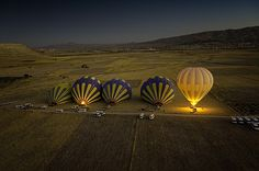Balloon launch in Cappadocia