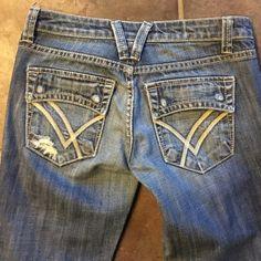 WILLIAM RAST DISTRESSED Flare Sz 26x32 like new Sexy cool- WILLIAM RAST DISTRESSED Flare Sz 26x32 like new!!! William Rast Jeans