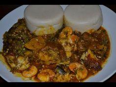 Makume ou pâte de mais fermentée (cuisine togolaise) - Akassa - Akple (corn and cassava dough) - YouTube