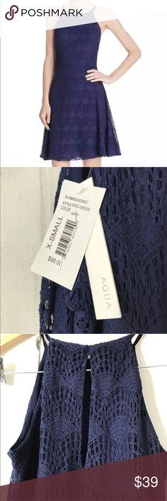 ❤️NWT❤️ Aqua blue lace dress keyhole sleeveless NWT  Same or next day shipping  Total Length: 34 Inches Bust Across: 14 Inches Waist Across: 13 Inches Aqua Dresses