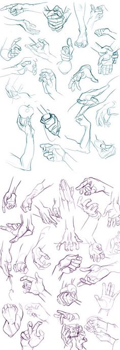 Anatomy Drawing Tutorial hands drawing by OrsoB - Drawing Tutorial Hands, Hand Drawing Reference, Art Reference Poses, Drawing Hands, Feet Drawing, Arm Drawing, Anatomy Sketches, Anatomy Drawing, Art Drawings Sketches