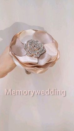 Wedding bridesmaids bouquet, flower girlThe size is approx. Wedding Bridesmaid Bouquets, Gold Bridesmaids, Bling Wedding, Wedding Flowers, Dream Wedding, Wedding Cake, Broschen Bouquets, Boquet, Wedding Brooch Bouquets