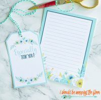 Free Printable Floral Gift Tags & Lined Notecards