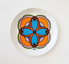 1960's PETER MAX China Plate. $60.00, via Etsy.