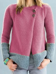 Style Casual Pattern Solid Detail Color-block,Buttoned Sleeves Type Long sleeve Collar Crew Neck Material Polyester,Cotton Season Fall,Winter Occasion Daily life,Going out Cardigan Casual, Sweater Cardigan, Cardigans For Women, Types Of Sleeves, Baby Knitting, Knit Crochet, Sweaters, Casual Outfits, Clothes