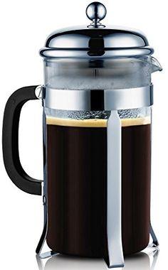 SterlingPro Coffee & Espresso Maker, 8 Cups (4 Ounce Each), Chrome
