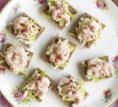Prawn cocktail squares. Banish the glassware and serve your prawn cocktails in one stylish, bite-sized go.