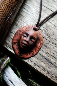 Earth Warrior Earth Medicine Necklace. Handcrafted Clay Necklace. We must nurture and deepen our connection to the Earth Mother. It is up to each of us to awaken to our direct relationship with her and bring ourselves and our lives into right-relation and harmony with her cycles and