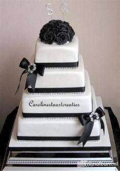 black beauty wedding cake
