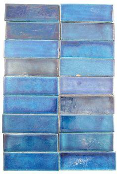 Eighteen William De Morgan spacer tiles - by Woolley & Wallis