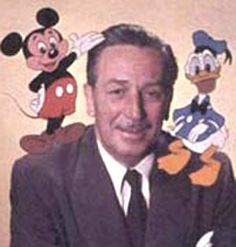 the great Walt Disney with his friends