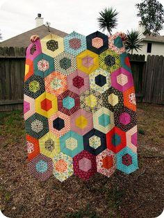 """Gorgeous gorgeous gorgeous! """"Chicopee Hexagon Quilt"""""""