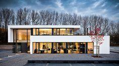 Ein Blickfang in Hagen: Das Bürogebäude überzeugt mit einer klaren Beton-Architektur