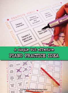 Break your students out of their practice rut with this cute practice idea! https://colourfulkeys.ie/surprise-piano-students-practice-bingo-week/