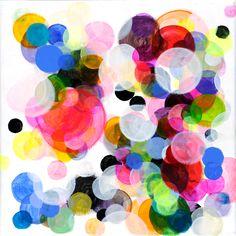Kreise #8, 30 * 30 cm - Acryl auf Leinwand - Paula Baader