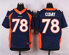 Men's Denver Broncos #78 Ryan Clady Navy Blue Alternate NFL Nike Elite Jersey
