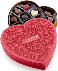 Godiva Limited-Edition Valentine Paper Heart Box of Chocolates - 15-Pc. GODIVA Chocolatier