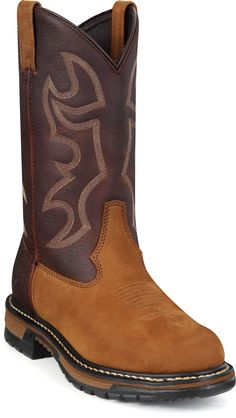 6732 Rocky Men's Branson Safety Ropers - Brown