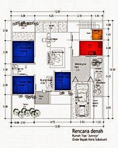 denah rumah minimalis type 90 | denah rumah, rumah, rumah