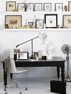 Street's workspace forms part of the open-plan living area and exposes her talent for making monochrome interesting and engaging, rather than austere.