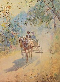 On A Sunday Afternoon, Paul Sawyier, American impressionist.  This reminds me of a photo of my grandparents.