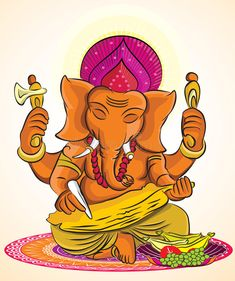 Illustration about This is a vector illustration, which Can be enlarged to any size. Illustration of creative, ganapati, ancient - 46020920 Ganesha Sketch, Ganesha Drawing, Lord Ganesha Paintings, Ganesha Art, Shiva Art, Krishna Art, Indian Illustration, Ganesha Pictures, Africa Art