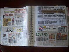 Photo album to organize coupons