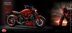Virtual Tuning Ducati XDiavel - Hellboy Diavel Ducati, Motorcycle Design, Super Bikes, Custom Bikes, Cars And Motorcycles, Motorbikes, Cafe Racers, Wheels, Trucks