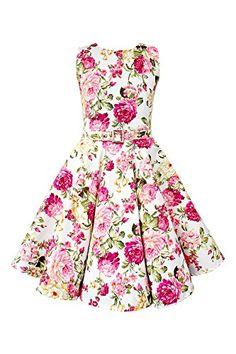 Black Butterfly Kids 'Audrey' Vintage Divinity 50's Dress (Ivory, 11-12 YRS)