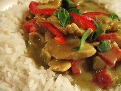 Poulet à la Thailandaise au Curry Vert Cuisine Thailandaise : des centaines de recettes thai gratuites